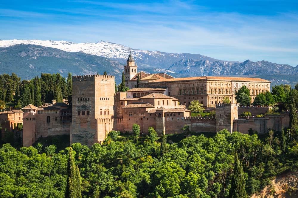 Vista exterior de la Alhambra de Granada