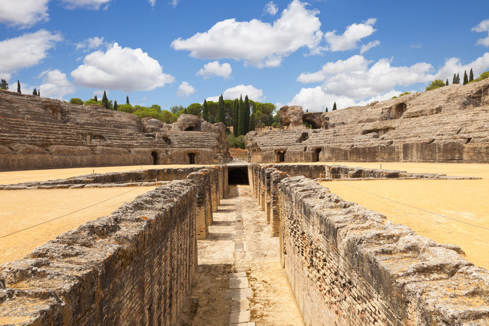 Anfiteatro romano de Itálica en Santiponce, Sevilla