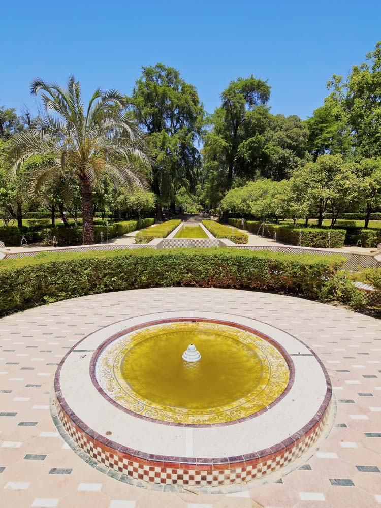 Fuente en el Parque María Luisa, Sevilla