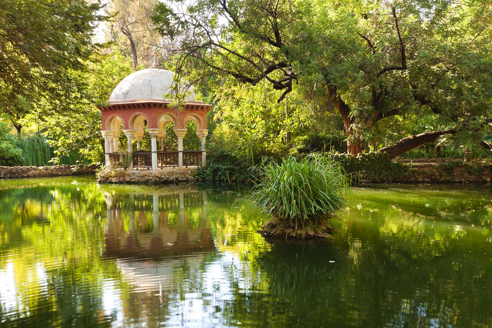 Pabellón en Parque María Luisa en Sevilla