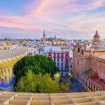 Vista de Sevilla panorámica desde el Metropol Parasol